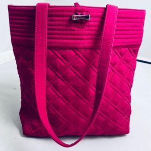 Vera Bradley hot pink toggle close tote bag